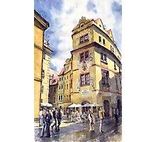 Prague Karlova Street Hotel U Zlate Studny Photographic Print