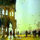 13-07-2008 Tramonto a Venezia (Original) Watercolor by BuaS