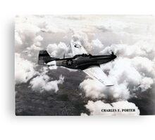 P51 1944 Air to Air Canvas Print