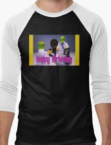 Doctor Toxic with Chainsaw, Custom Minifigure Men's Baseball ¾ T-Shirt