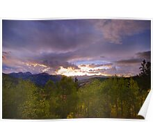 Windy Point Sunset Poster