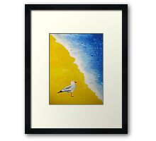 Seagull at the Beach  Framed Print