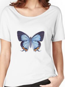 Imperial Blue Butterfly Women's Relaxed Fit T-Shirt