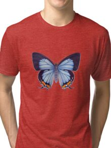 Imperial Blue Butterfly Tri-blend T-Shirt
