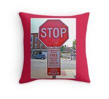 STOP - THEN START Throw Pillow
