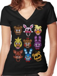 Five Nights Women's Fitted V-Neck T-Shirt