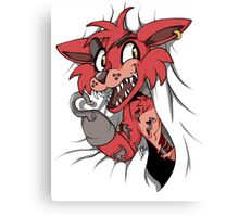 Foxy in the Curtain Canvas Print