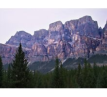 Castle Mountain Sunset Photographic Print
