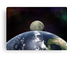 Moon Rise From Space Canvas Print