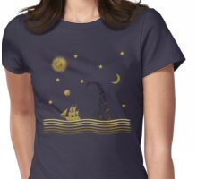 East of the moon... Womens Fitted T-Shirt