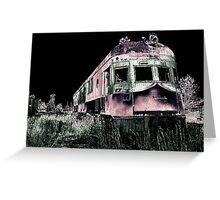 Midnight Ghost Train Greeting Card