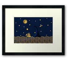 East of the moon... Framed Print