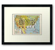Adventure Awaits - USA Framed Print