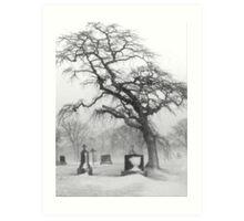 Graveyard Tree Art Print