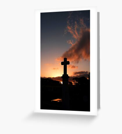 Sunset Cemetery Greeting Card