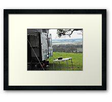 Camping at kingsview Framed Print