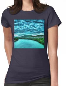River blue-  Art + Products Design  Womens Fitted T-Shirt