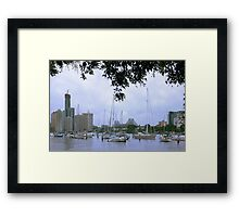 Sailboats in Brisbane, Australia Framed Print