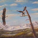 Circling Eagle. by Dan Wagner