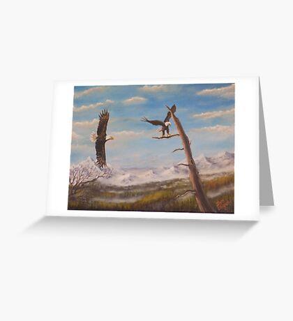 Circling Eagle. Greeting Card