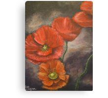 Red and a touch of green Canvas Print