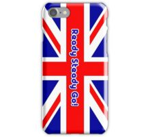 Mod British Union Jack Ready Steady Go ! by 'Chillee Wilson' iPhone Case/Skin