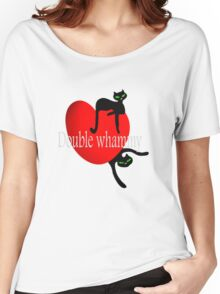 Double cat whammy cool t- shirt design Women's Relaxed Fit T-Shirt