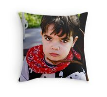 Angry Little Cowboy Throw Pillow
