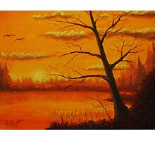 Sunset over the lake. Photographic Print