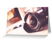 Photographic Lens Greeting Card