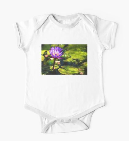 Waterlilies Impressions – Sunny Purple Pair One Piece - Short Sleeve