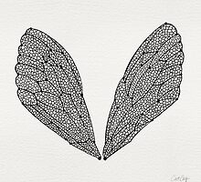 Black Cicada Wings by Cat Coquillette