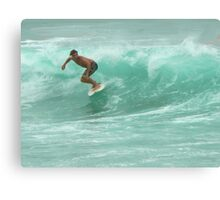 Byron Surfer Canvas Print