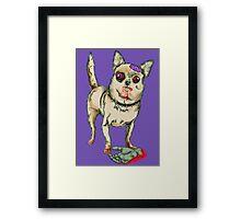 Zombie Chihuahua Framed Print