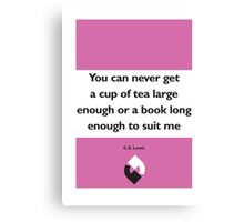 On Books - C.S. Lewis Canvas Print