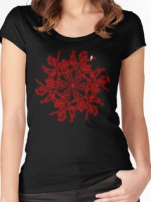 White Bird in a Red Tree World Women's Fitted Scoop T-Shirt