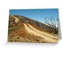 The Climb,Blue Rag Track Greeting Card