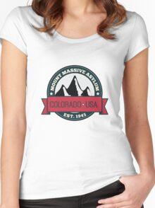 Outlast - Mount Massive Asylum Crest Women's Fitted Scoop T-Shirt