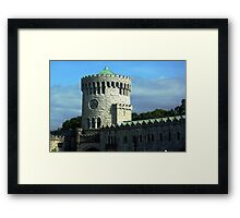 Castle Clock Tower Framed Print