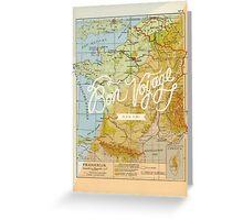 Bon voyage - France Greeting Card