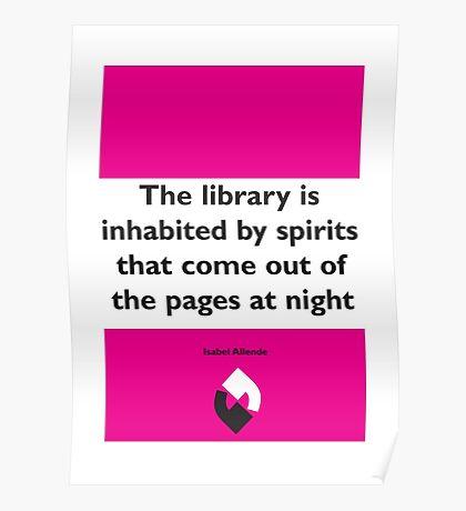 On Books - Isabel Allende Poster