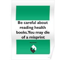 On Books - Mark Twain Poster