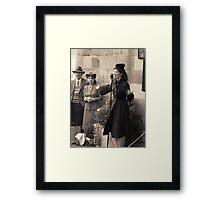 Miss Lola Lamour sings 1940s songs Framed Print