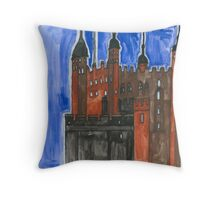 Stephen Tower of London Throw Pillow