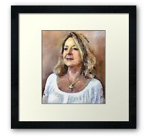 Lady in White Framed Print