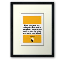 On Books - Groucho Marx Framed Print