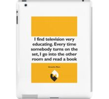 On Books - Groucho Marx iPad Case/Skin