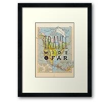 Travel Wide & Far - North America Framed Print