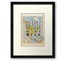 Travel Wide & Far - North America Framed Print