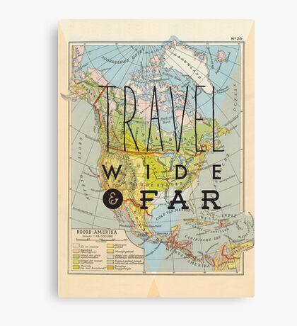 Travel Wide & Far - North America Canvas Print